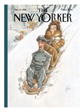 The New Yorker Cover - January 19, 1998 Premium Giclee Print by Peter de Sève