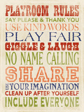 Playroom Rules Art by Stephanie Marrott