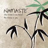 Namaste Kunstdrucke von Linda Woods
