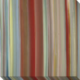 Soft Thin Vertical Stripes Warm Multicolor Stretched Canvas Print