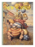 The New Yorker Cover - September 6, 1993 Premium Giclee Print by Peter de Sève