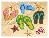Flip-Flop Family Poster by Scott Westmoreland