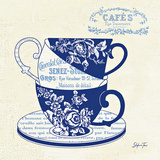Blue Cups III Prints by Stefania Ferri