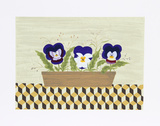 Three Pansies Limited Edition by Mary Faulconer