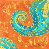 Spring Paisley II Print by Patricia Pinto