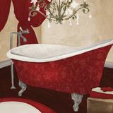 Red Guest Bathroom II Posters by Elizabeth Medley