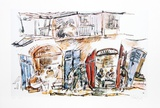 Jerusalem Bistro Collectable Print by Chaim Gross