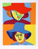 Girl with Hat III Collectable Print by John Grillo