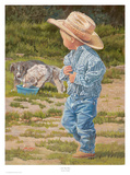 June Dudley - Küçük Mavi Çocuk - Art Print
