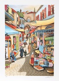 Old Jerusalem Market Limited Edition by Ari Gradus