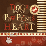 Paw Prints Prints by Kathy Middlebrook