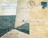 Voyage Postcard I Prints by Susan Bryant