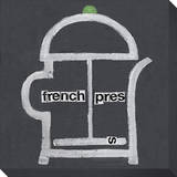 French Press Stretched Canvas Print