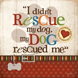 Rescue Dog Poster by Kathy Middlebrook