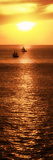 Sailboat at Sunset II Posters by Kathy Mansfield