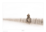 Riding Fence Poster by Robert Dawson