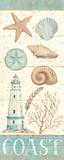 Ting fra havet i pastelfarver I Plakater af Daphne Brissonnet