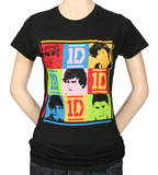 Juniors: 1D - 9 Squares T-shirts