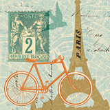 Postcard from Paris Collage Poster by Sue Schlabach