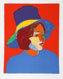 Girl with Hat VI Limited Edition by John Grillo