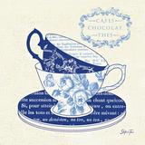 Blue Cups II Poster by Stefania Ferri