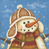 Snowman I Prints by Kim Lewis