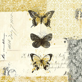 Golden Bees n Butterflies No. 2 Prints by Katie Pertiet