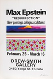 Resurrection, Exhibition of Paintings, Collages & Sculpture Serigraph by Max Epstein