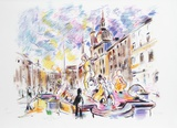 Piazza Navona, Rome Limited Edition by Wayne Ensrud