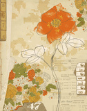 Collaged Botanicals I Poster av Katie Pertiet