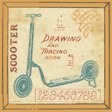 Vintage Scooter Poster by Jo Moulton