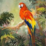 Parrots at Bay I Art par Jane Slivka