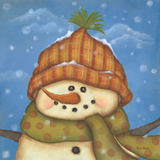 Snowman II Art by Kim Lewis