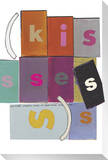 Kisses Stretched Canvas Print