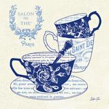 Blue Cups IV Print by Stefania Ferri