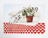 Strawberry Plant and Figaro Limited Edition by Mary Faulconer