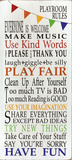 Playroom Rules Posters