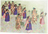 Harvest dancers Collectable Print by Alice Asmar