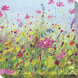 Wildflowers Stretched Canvas Print by Laura Hughes