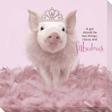 In The Pink! - Princess Pig 1 Reproduction transférée sur toile
