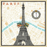 Monuments des Paris Eiffel Posters by Sue Schlabach