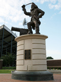 East Carolina University - Pirate Statue Sits at Dowdy-Ficklen Photographic Print by Rob Goldberg
