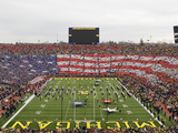 University of Michigan - American Flag Formed at Michigan Stadium Fotografisk tryk