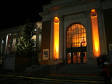 Oregon State University - Orange Lights at Memorial Union Fotografisk tryk