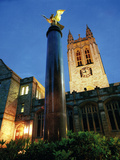 Boston College - Night Illumination of Gasson Hall Photographic Print