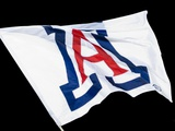 University of Arizona - Arizona Wildcats Flag Flies Photographic Print
