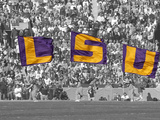 Louisiana State University - LSU Flags Photographic Print