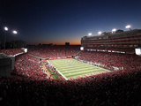 University of Nebraska - Memorial Stadium under the Night Sky Poster