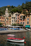 Portofino harbour Liguria Italy Photographic Print by Charles Bowman