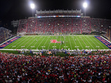 University of Mississippi (Ole Miss) - Night Game in Vaught-Hemingway Stadium Fotografisk tryk